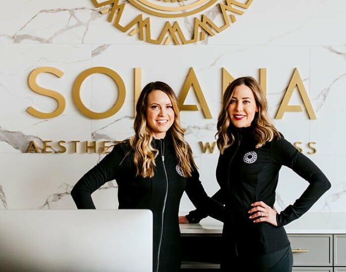 Melissa Zambon and Jessica Kellerman at Solana Aesthetics and Wellness in Lemont, Illinois